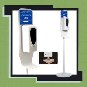 Desinfectiezuil met spray sensor nieuw model
