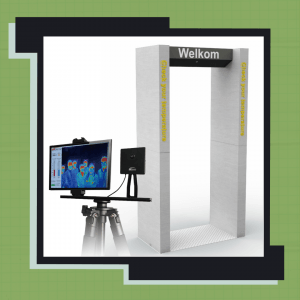 Scanportaal met infrarood warmtebeeldcamera