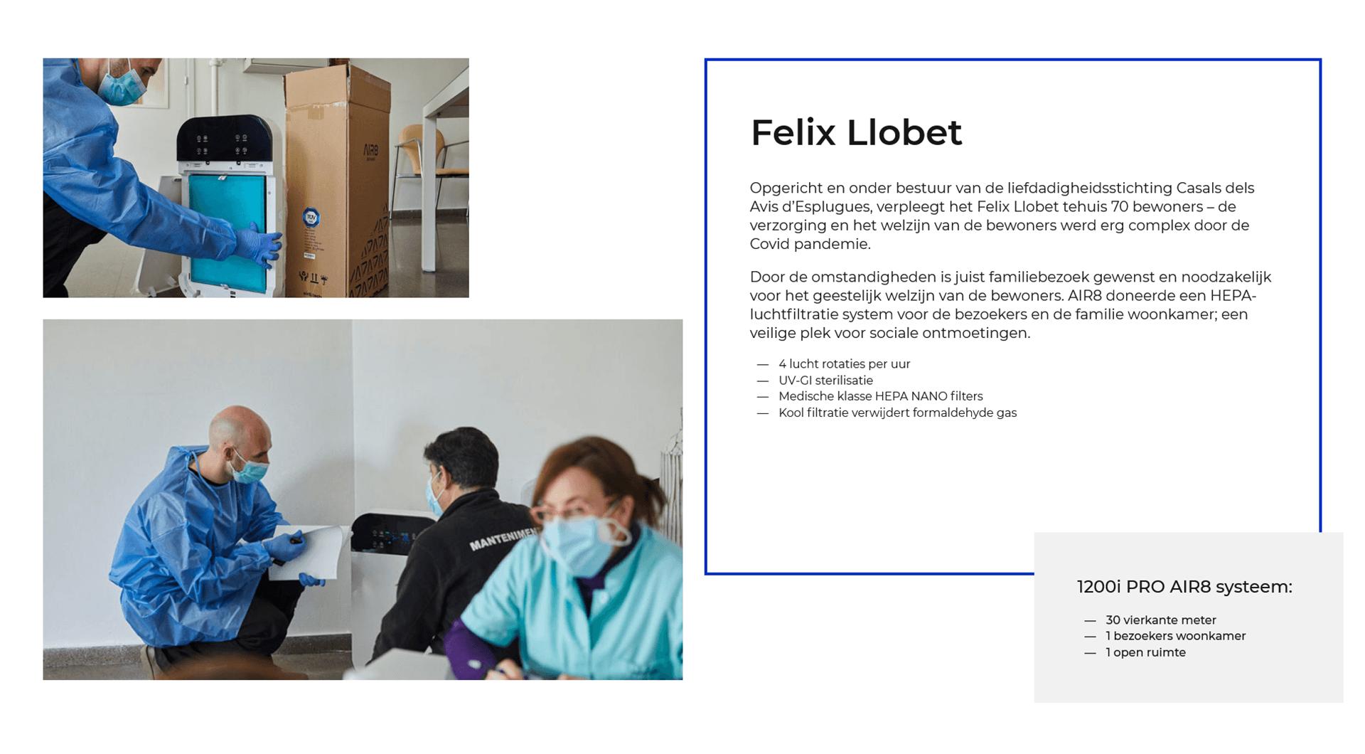 AIR8 luchtreiniger bij Felix Llobet