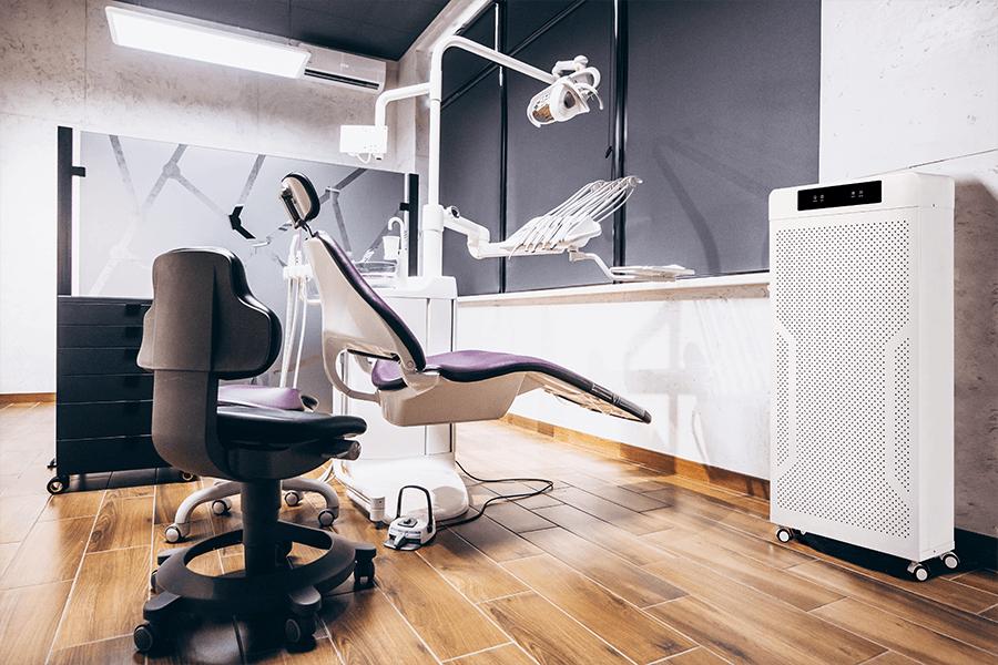 AIR8 luchtreiniger 1200i PRO bij tandarts