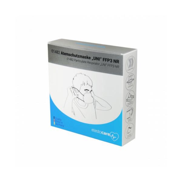 Hoogwaardig fleece mondmasker (FFP3) Doosje
